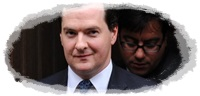 George Osborne departs the Leveson Inquiry into press ethics